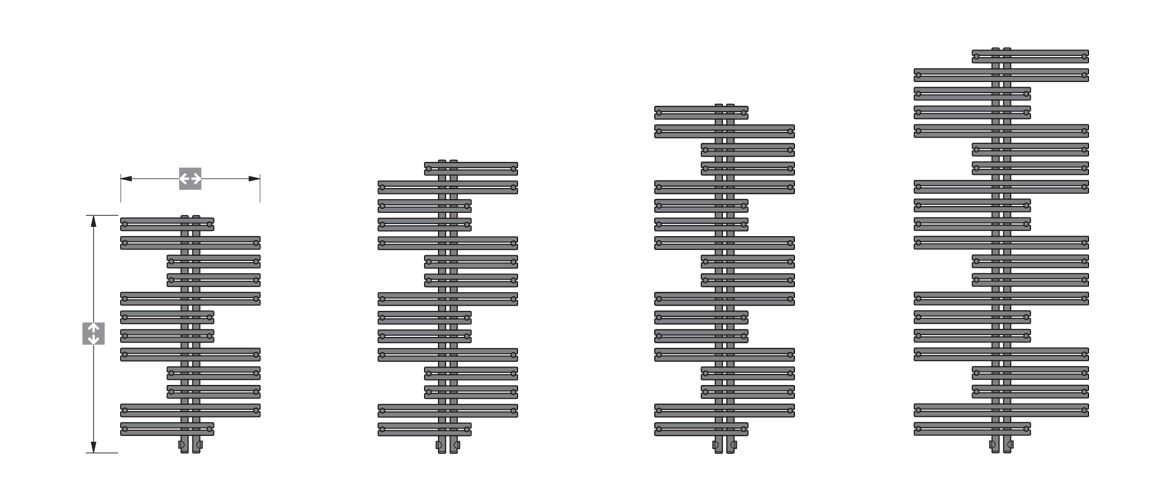 Various sizes and variations of models